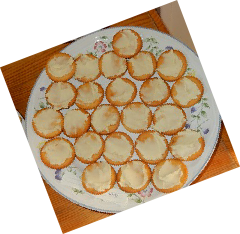 Brie-style vegan cheese on Ritz crackers